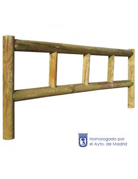 Talanquera MU-50A de madera