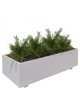 Jardinera hormigón rectangular