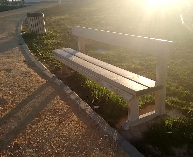 mobiliario urbano banco guadarrama