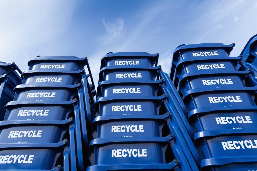papeleras de plastico reciclado