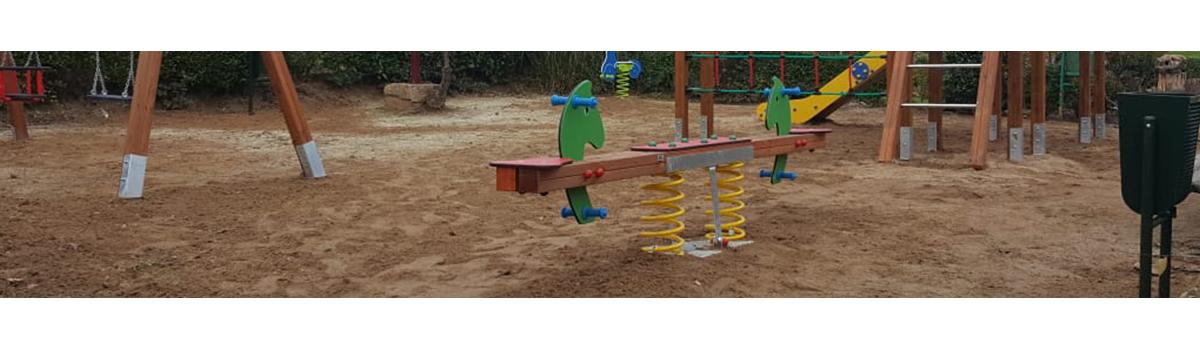 Muelles para parques infantiles