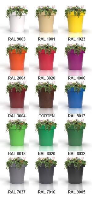jardinera venecia gama de colores ral